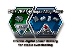 DIGI+ VRM met Super Alloy Power