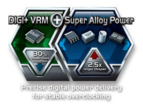 DIGI+ VRM with 10-phase Super Alloy Power