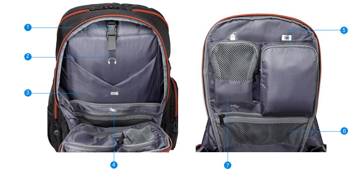 nouveau asus rog nomad 17 sac dos noir pc portable sac tui 90xb0160 bbp000 ebay. Black Bedroom Furniture Sets. Home Design Ideas