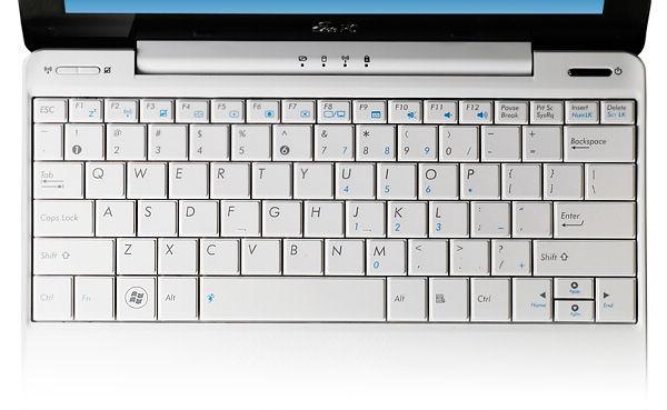 Эргономичная клавиатура Eee PC Seashell обеспечивает максимальный...