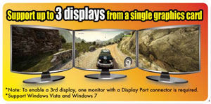 Support up to 3 displays