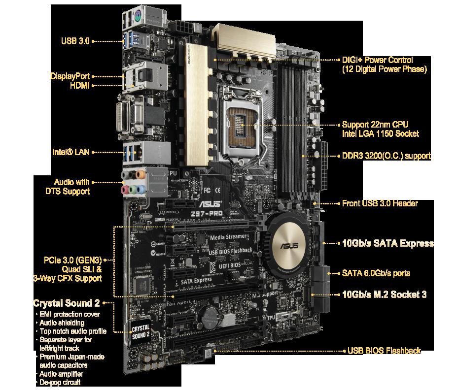 Z97PRO  Motherboards  ASUS Global