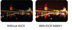 ASCR(ASUS Smart Contrast Ratio) 50000:1 creates sharper and brighter images