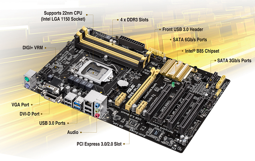B85-PLUS | Motherboards | ASUS USA