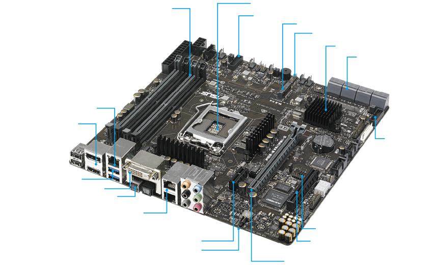 Asus P10S-M WS/IPMI-O Workstation Board with Complete Remote Management