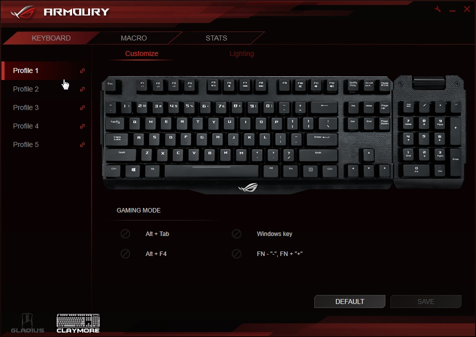 ROG Claymore Core | Keyboards & Mice | ASUS Global