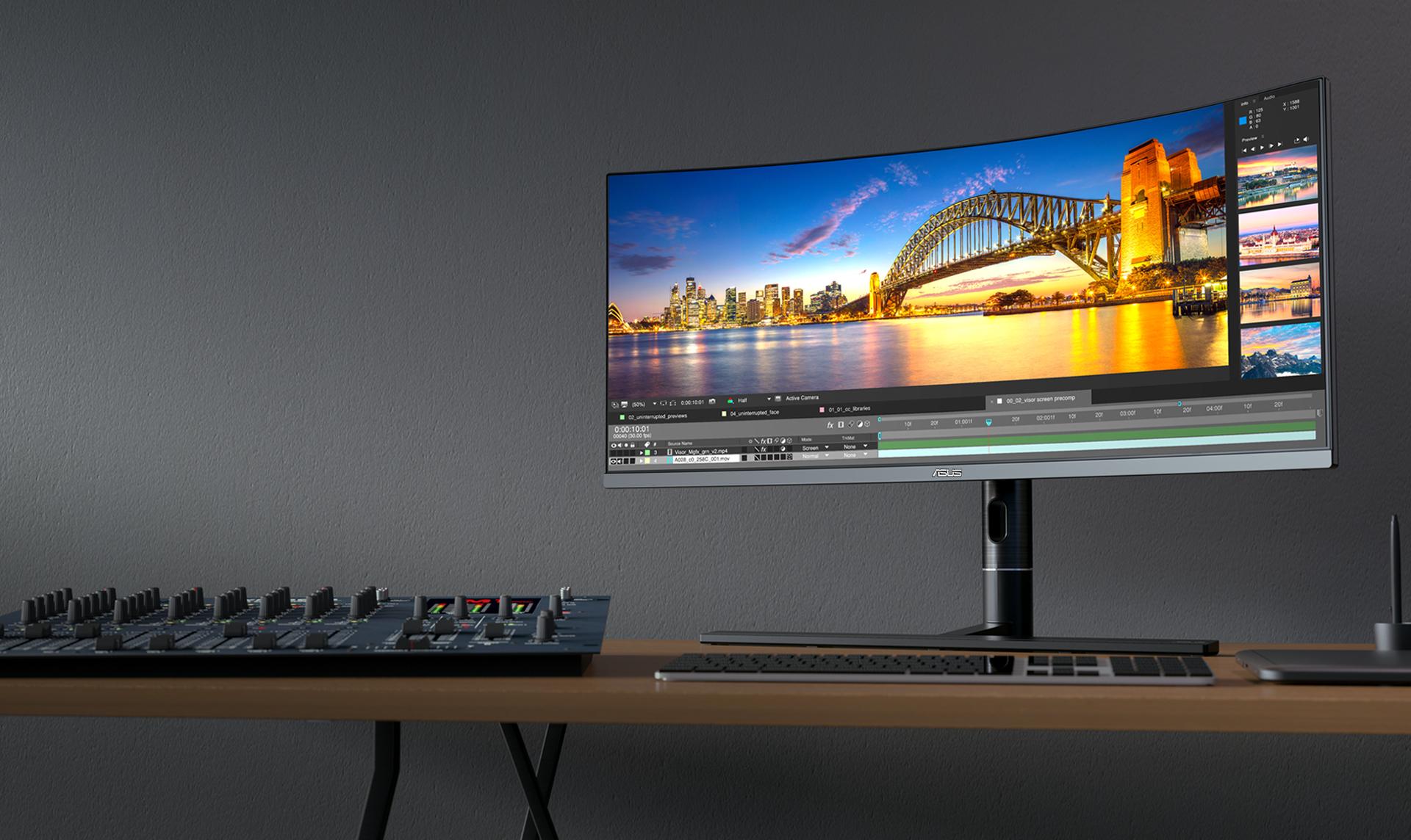ProArt PA34VC 4K HDR Professional Monitor