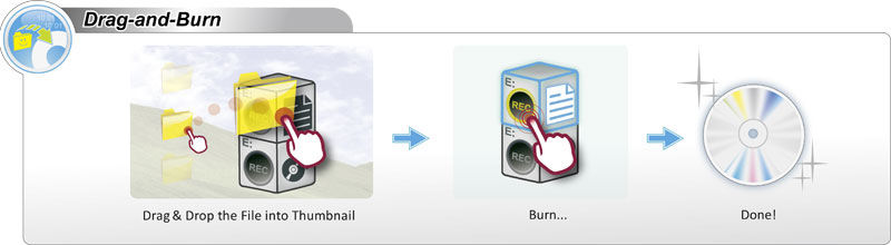 hassle-free approach to copying discs and burning files