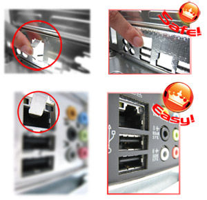 """... without the usual """"fingers"""" - making it convenient and easy to install. With better electric conductivity, it ideally protects your motherboard against ..."""
