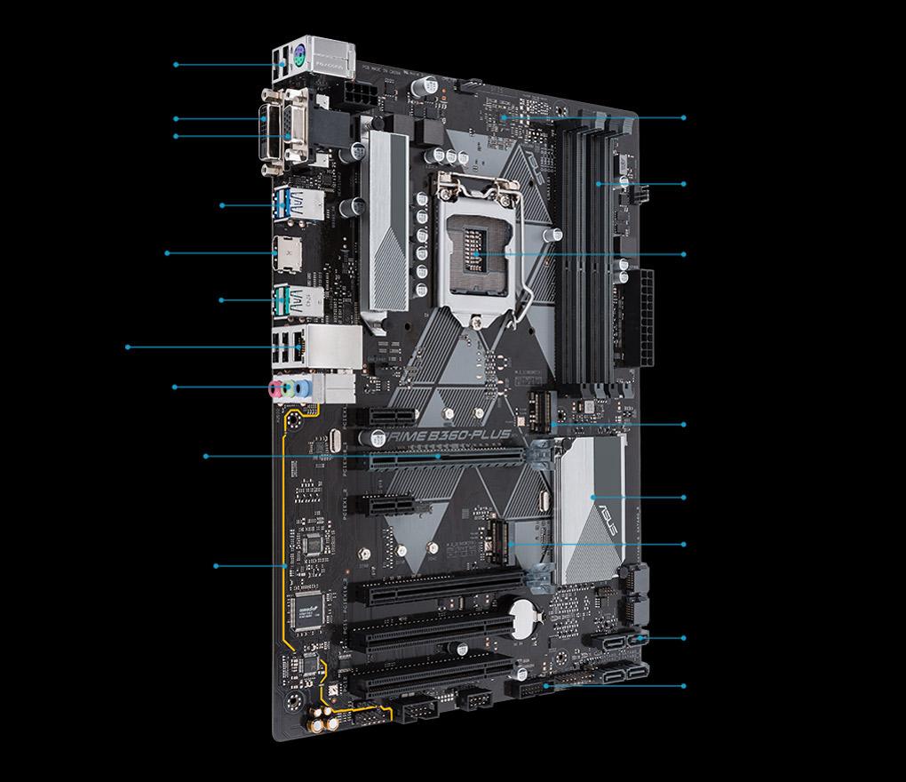 Prime B360 Plus Motherboards Asus Usa Adjustable Radiator Fan Wiring Diagram Control A Flex 1 4 X Usb 20