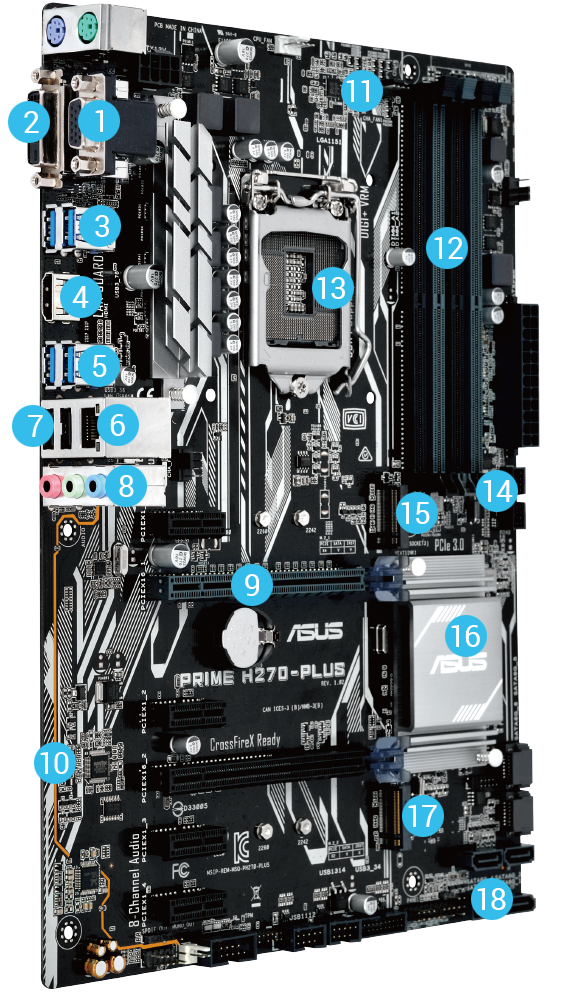 prime h270 plus motherboards asus global. Black Bedroom Furniture Sets. Home Design Ideas