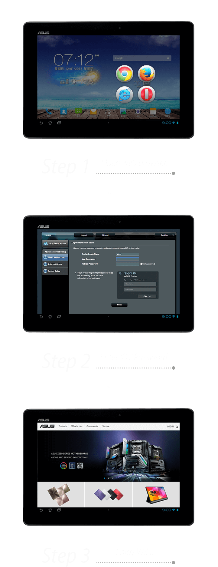 3-step easy setup