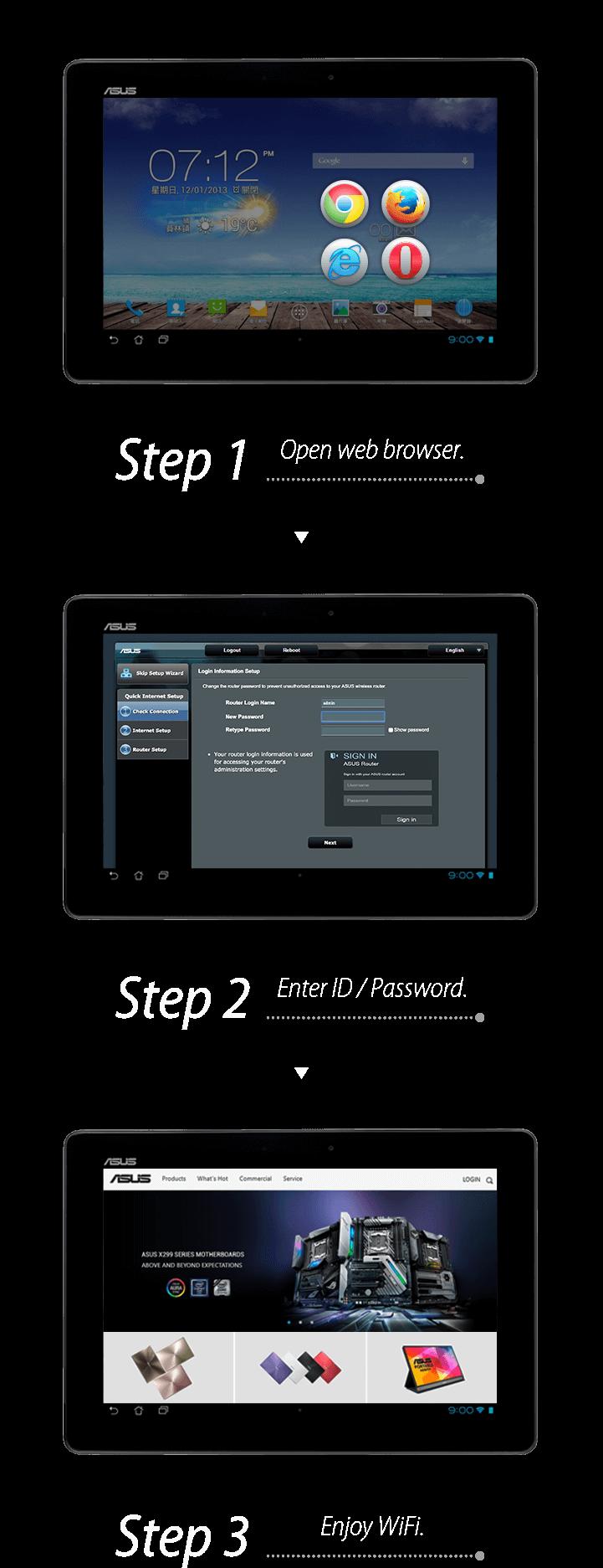 3-step easy setup