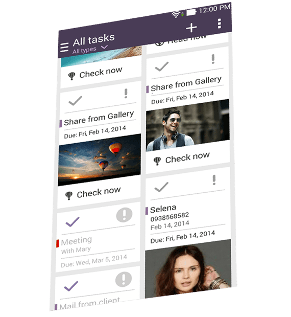 All Tasks screenshot