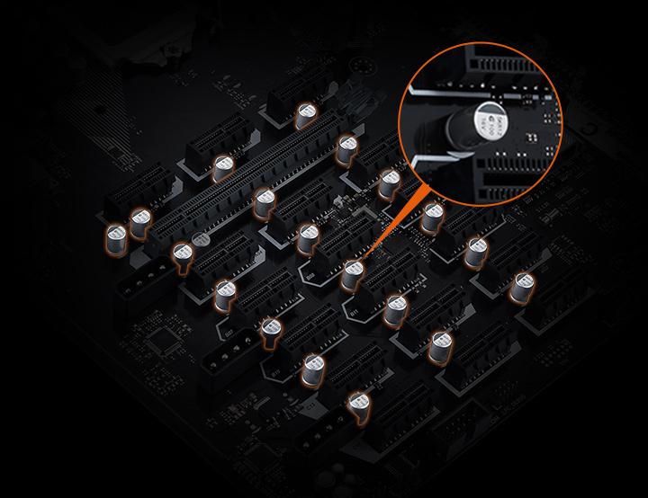 19 GPU's Asus B250 Mining Expert LGA 1151 Intel Motherboard ATX DDR4
