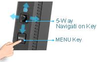 Pětisměrná navigační klávesa