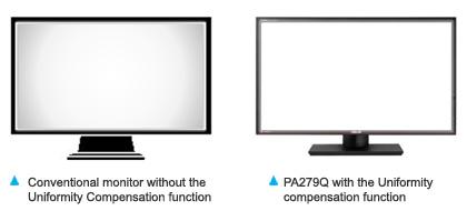 Funkce pro úpravu jednotnosti zobrazení (Uniformity Compensation)