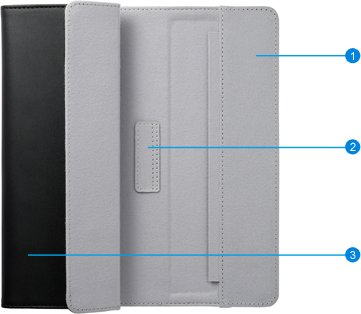 Dual-stance folio cover