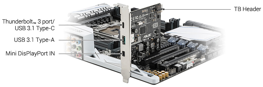 Thunderboltex 3 Motherboard Accessories Asus Usa