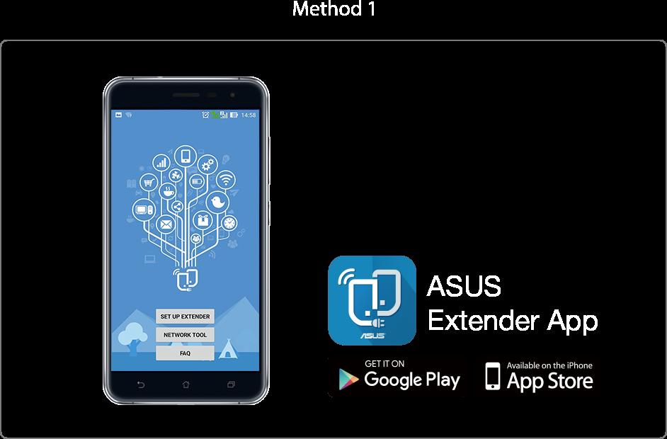 Mit der ASUS-Extender-App können Sie die Anmeldeinformationen Ihres Routers per Fingertipp zum RP-AC1900 übertragen