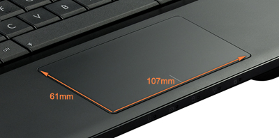 47% bigger multi-gesture touchpad