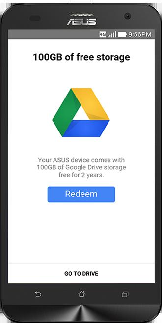 Enjoy 100GB of FREE Google Drive Storage