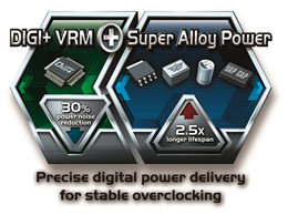 DIGI+VRM inklusive Super Alloy Power-Technologie