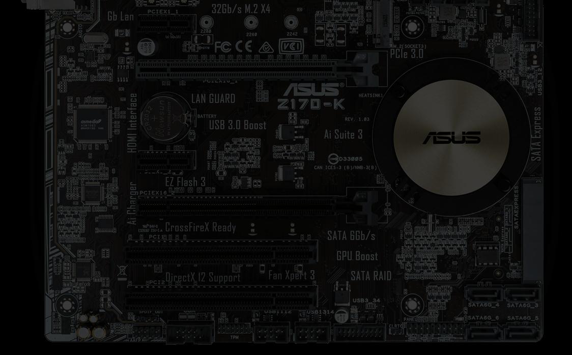 Z170-K | Motherboards | ASUS Global