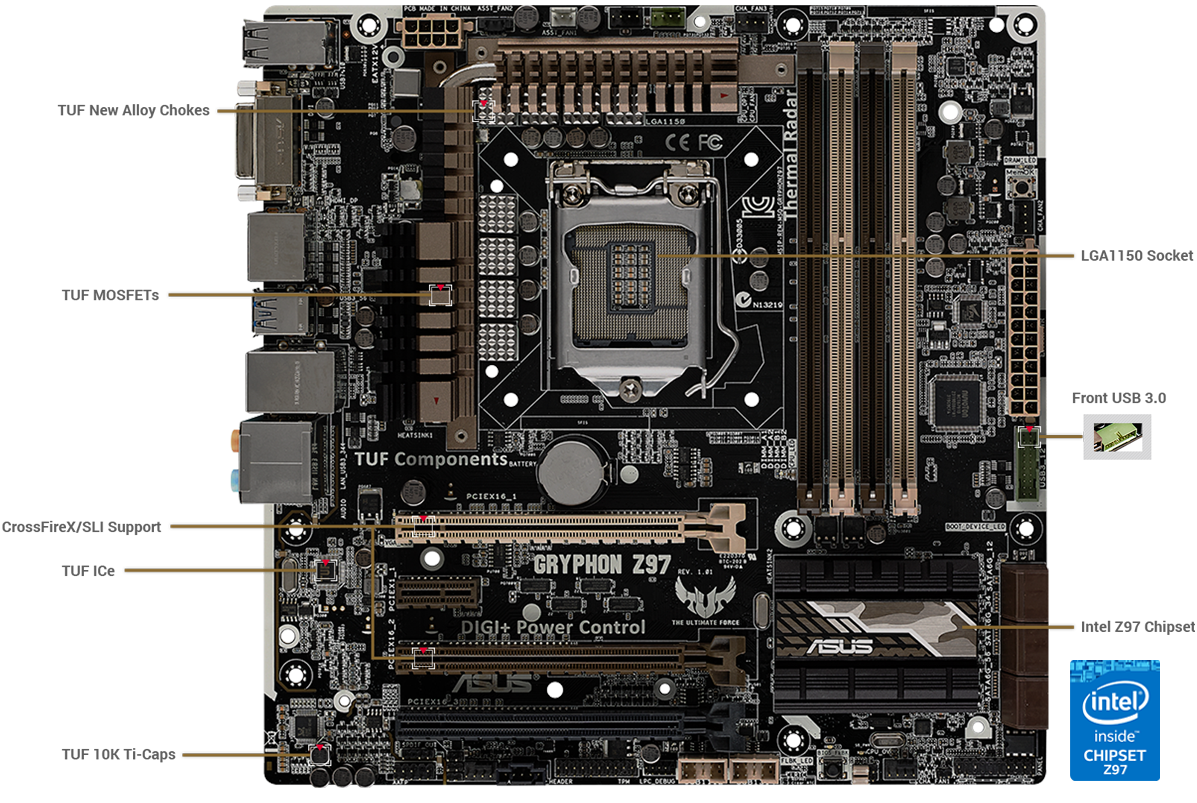 Gryphon Z97 Motherboards Asus Global Pics Photos Computer Diagram With The Following Parts Labeled Cpu