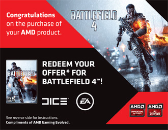 Bundled Battlefield 4 game coupon