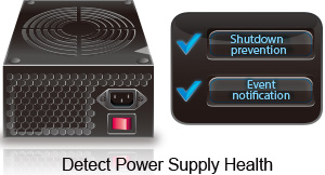 Detect, diagnose, and monitor power supply health