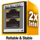 The latest server class built-in dual Intel® I210 Gigabit LAN