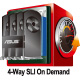 PCI-E Gen3 x16 link 4-Way graphics power