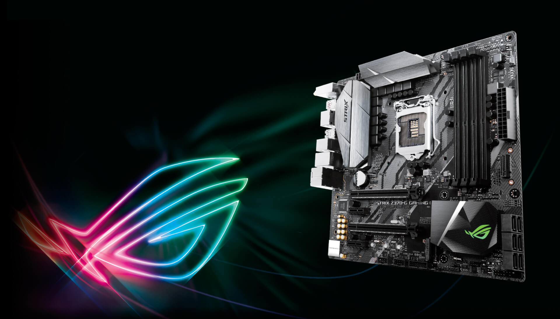 Rog Strix Z370 G Gaming Wi Fi Ac Motherboards Asus Usa 32153 Pcie Chip Factor In Custom Aura Rgb Illumination And Superior Supremefx Audio Youll Know That Looks Great Sounds Amazing