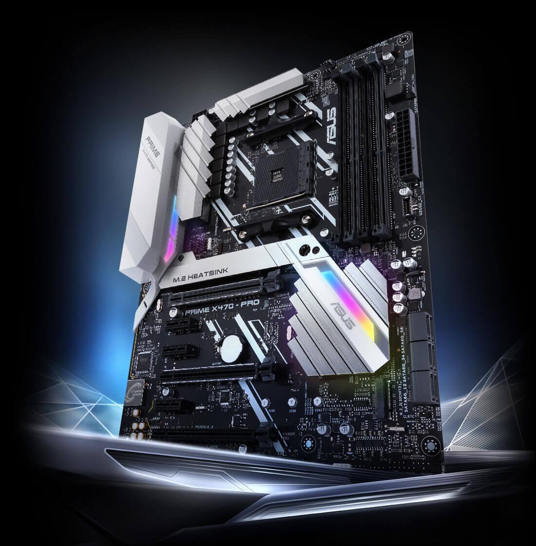 Prime X470 Pro Motherboards Asus Usa Ez Wiring 12 Standard Diagram Cpu Amd Ryzen 7 2700x Dram Kingston Ddr4 2666 8g2 Power Corsair Rm850i Water Cooling H110i