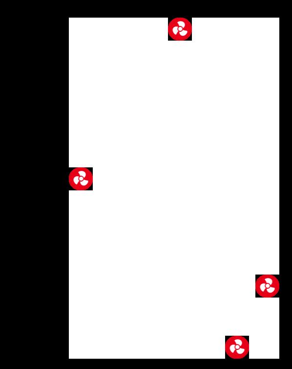 Position für einen 4-Pin PWM/DC-Lüfter