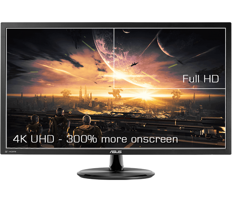A 28-inch 4K UHD display