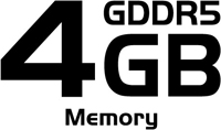 4GB GDDR5 Memory