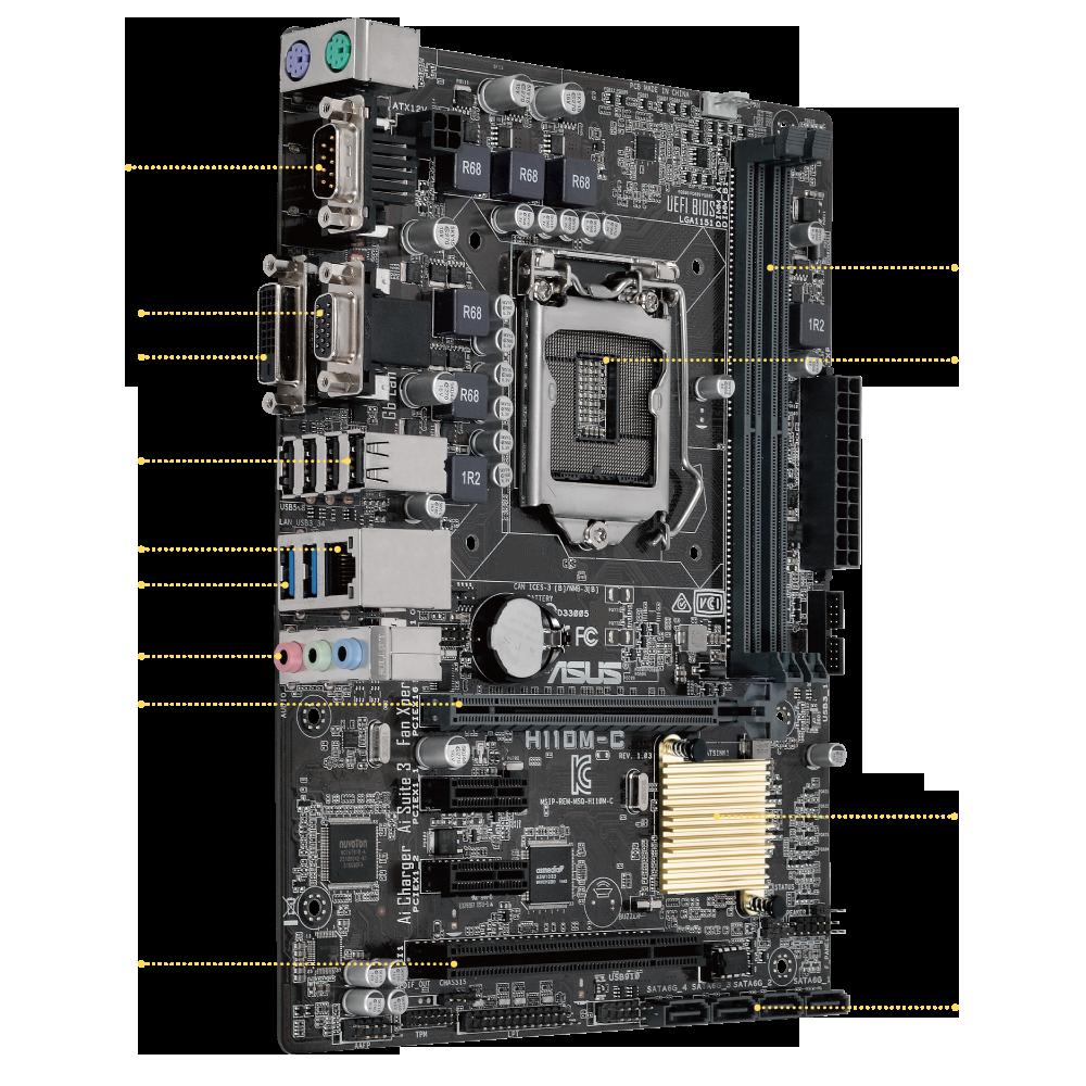 H110m C Motherboards Asus Global Sata To Usb Converter Circuit Diagram