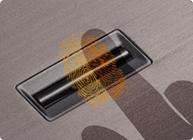 Improved security with fingerprint scanning