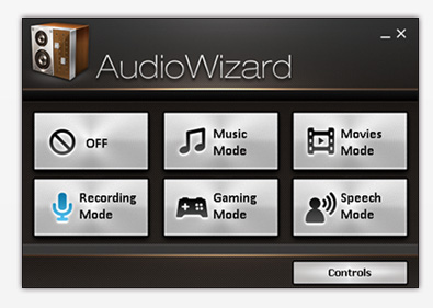 Multi-mode AudioWizard gives you sound control