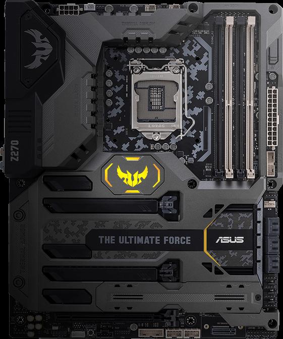 ASUS TUF Z270 MARK 1 Intel LGA 1151 ATX motherboard with Thermal Armor,  DDR4 3866, dual M 2, Intel Optane™ Memory Ready, dual Intel Gigabit LAN,  USB