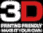 Поддержка 3D-печати Подчеркните собственный стиль.
