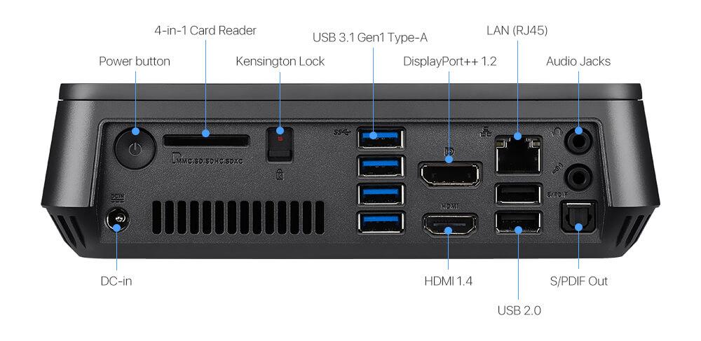 VivoMini VM45-Mini PC- usb 3.1- hdmi- ethernet- WiFi ac- displayport