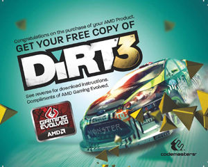 DiRT3 racing by Codemasters included