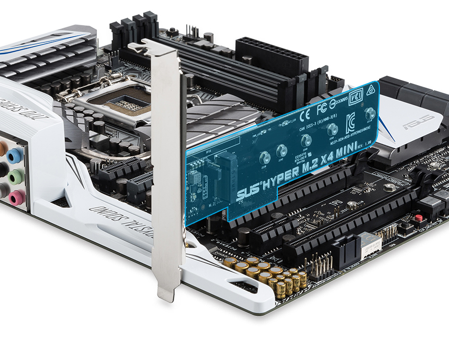 Ultra Fast Speed With PCIe Slot Flexibility