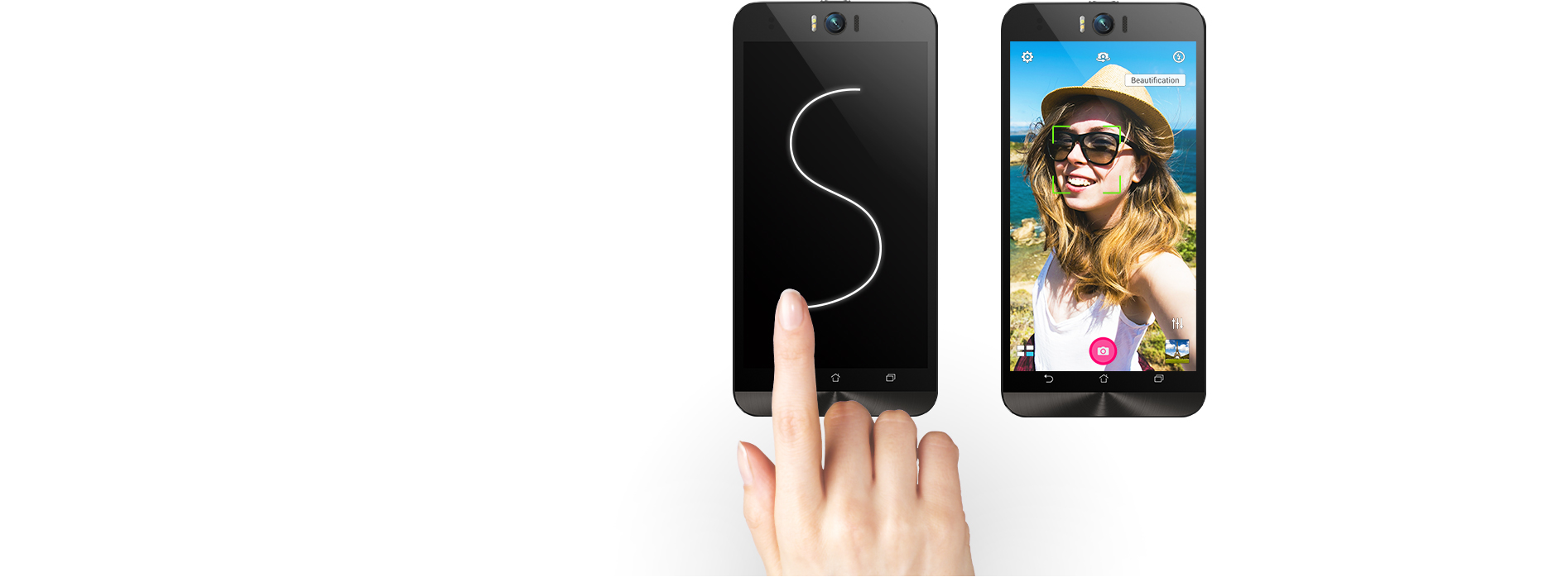 Zenfone Selfie Zd551kl Phone Asus Indonesia Selfi 3 32gb Garansi Resmi Zenmotion Sapukan Bentuk S Untuk