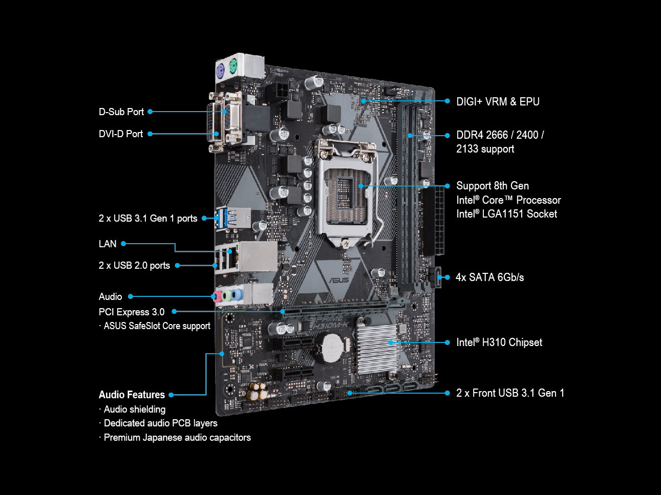 PRIME H310M-K | Motherboards | ASUS Global