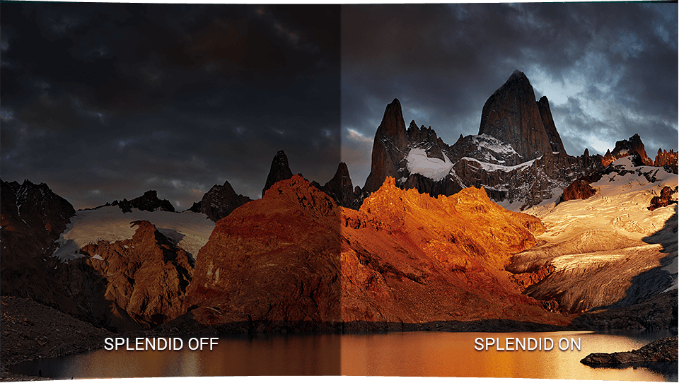 Designo Curve MX32VQ features ASUS SplendidPlus™ technology that optimizes videos and images by enhancing color brightness, contrast and sharpness.