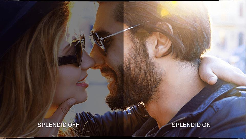 Le Designo Curve MX32VQ intègre la technologie intelligente ASUS SplendidPlus™, qui optimise la qualité des images en améliorant les contrastes, la luminosité des couleurs et la précision des détails.